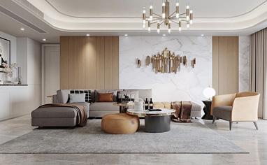 金色家園165㎡現代風格