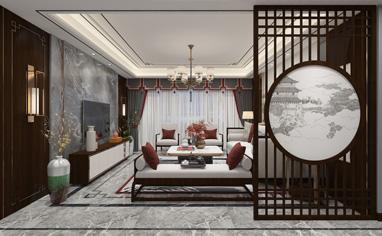 翡翠城180㎡新中式风格